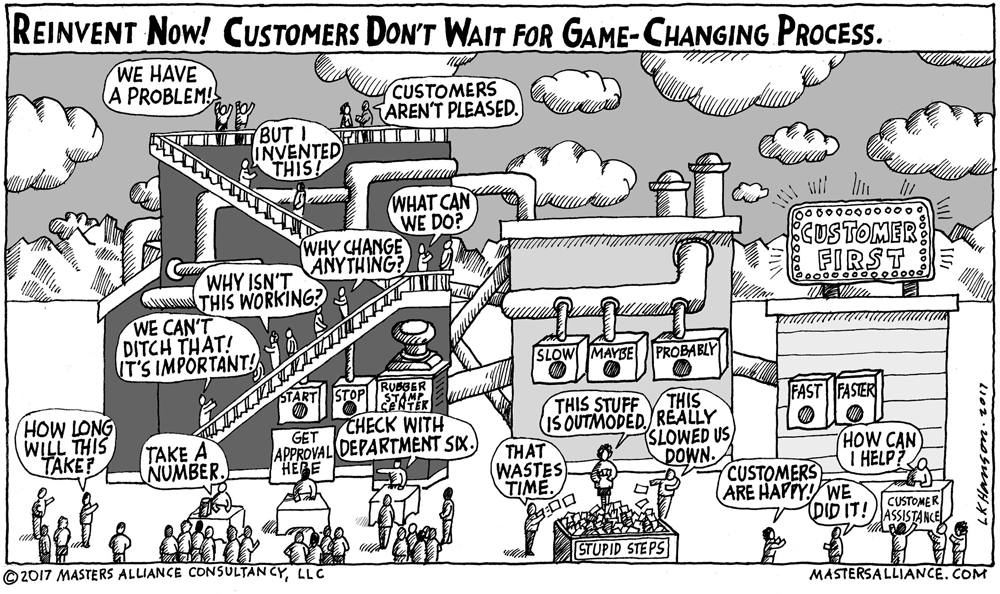 Masters Alliance Reinvent Now! Customers Don't Wait for Game-Changing Process